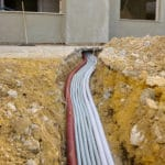 Cable laying of fibre optic cables
