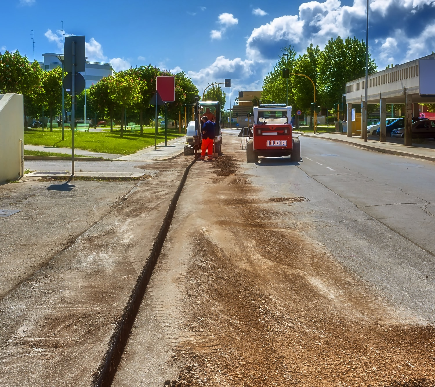 Correct cable laying of optical fibre